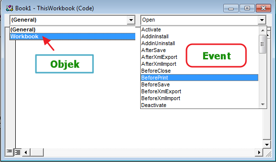 Objek n Event VBA Excel