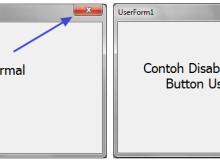 Disable Close Button UserForm