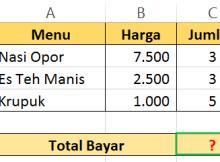 Hitung Total Bayar