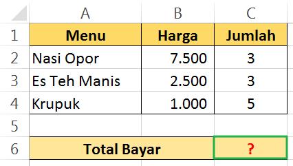 Cara Menghitung Total Bayar dengan Excel | Forum BE-ORG