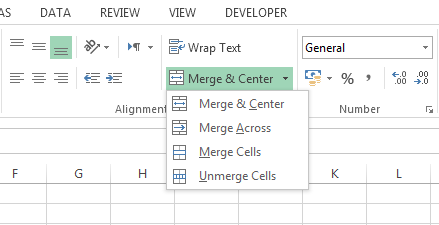 Merge Cells di Excel